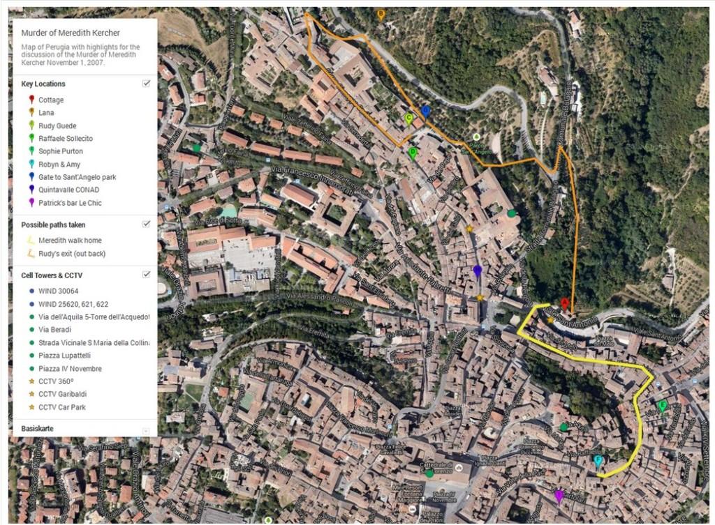 Map of Perugia